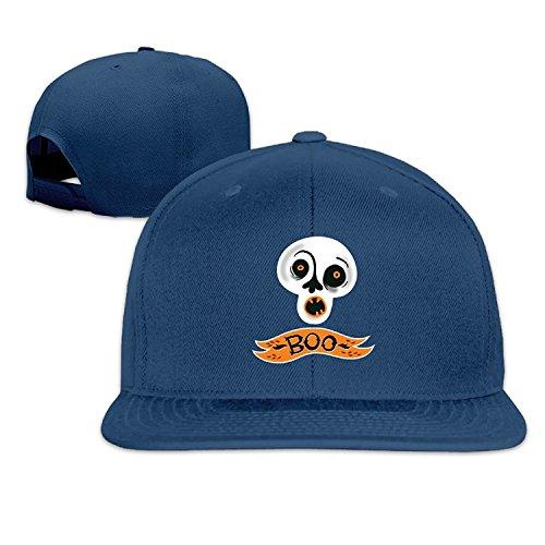 Halloween Pumpkin Boo Flat Along Baseball Cap (Halloween Trick Or Treat Movie Online)