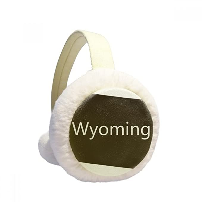 Wyoming The United States Of America Winter Earmuffs Ear Warmers Faux Fur Foldable Plush Outdoor Gift