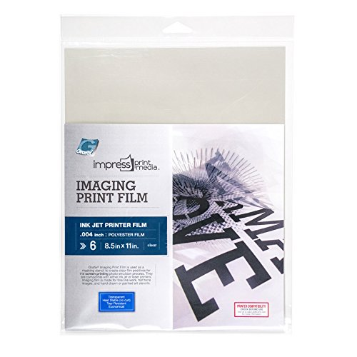 Grafix Impress Print Media Ink Jet Imaging Film 8-1/2-Inch-By-11-Inch Package of 6 (KCIJ08116I)