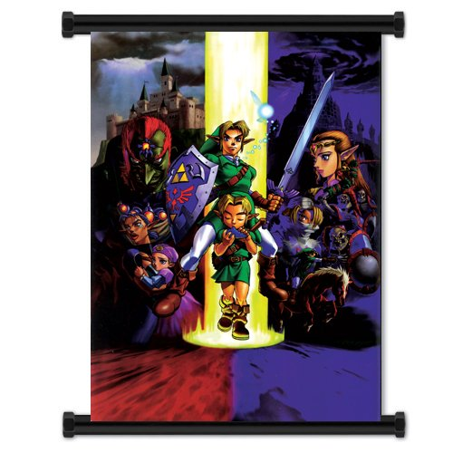 1 X Legend of Zelda: Ocarina of Time Game Fabric Wall Scroll