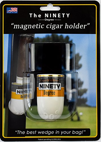 The Ninety Degree Wedge - The Ultimate Premium & Versatile Magnetic Cigar Holder - White- Made in the USA