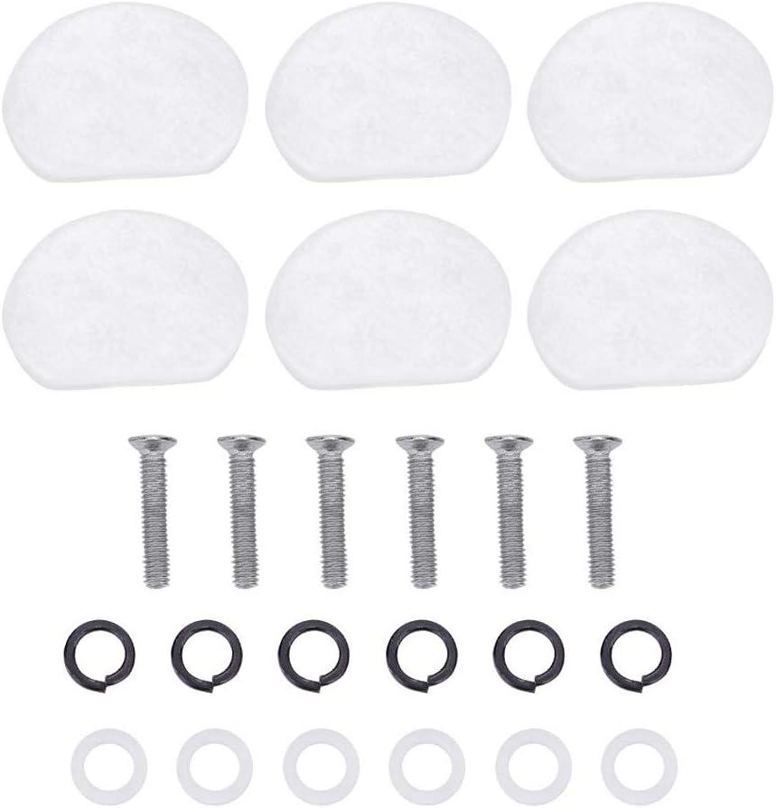 Dilwe Botón de Clavija de Afinación de Guitarra, 6 PCS/Set Tuning Pegs Cabezas de Maquinas Botones de Acrílico para Guitarra