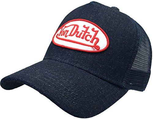 Von Dutch Denim (Von Dutch Celebrities Choice VDHT102 Originals Trucker Hat with Logo Patch Baseball Hat Snap Back 102 (Denim/White Patch))