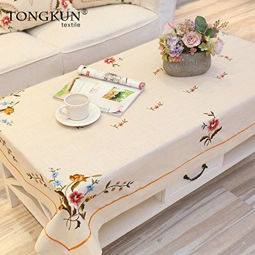 130190cm Europäische Tischdecken Tischdecke Tischdecken Klassische Stickerei Garten Tee Tischdecke Tisch Farbe  Abbildung, 130  190cm