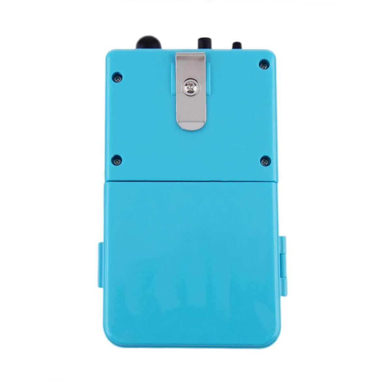 JohnJohnsen Impermeable Bomba portátil de oxígeno del Aire para el Pescado del Acuario del Tanque Accesorios con el Tubo de Aire Suave Stone Aquatic Pet Products (Azul)