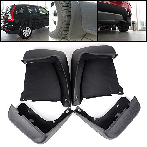 (Pack of 4) Fit Honda Accord 2003-2007 7th Gen Sedan 4-Door MATTE BLACK Mud Shield Splash Guard Front Rear Set