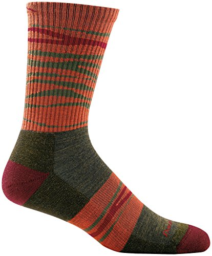 Darn Tough Switchback Micro Crew Light Cushion Sock - Mens Forest Large