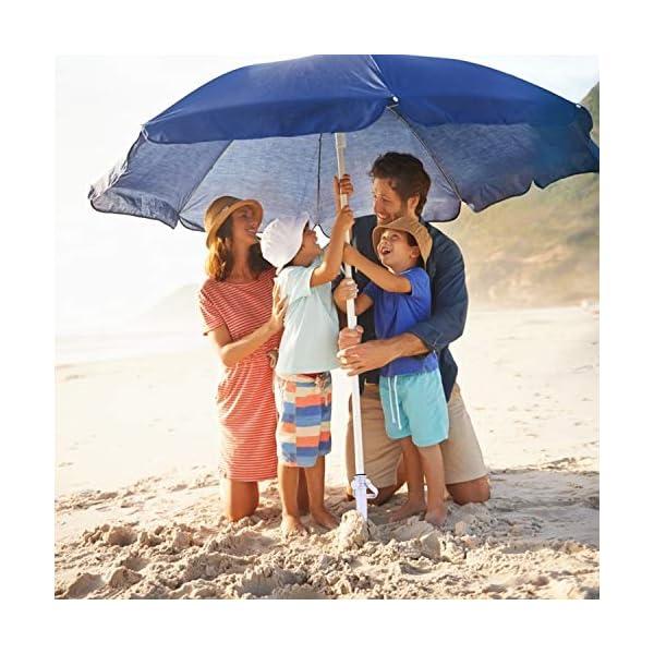 Beabro 2 Pezzi Picchetto di Supporto per ombrellone Mare Spiaggia Vacanze Sole Giardino Punta Terra Sabbia Trivella… 7 spesavip