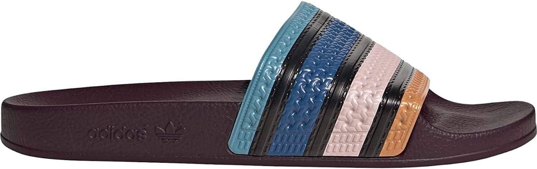 Adidas Adilette Pantoffels voor heren, rood meerkleurig Scarlet Core Black Vapour Pink
