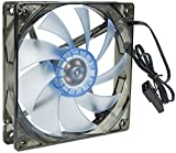 VIVO FAN-V120B 120mm Blue LED Sleeve Bearing Quiet Performance Computer Case Fan (FAN-V120B)