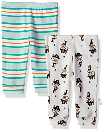 Rosie Pope Baby Newborn 2 Pack Pants (More Options Available), Pirate Stripe, 3-6 Months]()