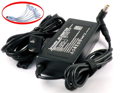 iTEKIRO 90W AC Adapter for Lenovo ADLX65NCT3A ADLX65NDT2A ADLX65NDT3A ADLX65NLT3A ADLX90NCT3A ADLX90NDT3A ADLX90NLT3A 36200291 36200293 45N0316 45N0319 45N0320 45N0330 45N0323 45N0324 45N0332 + iTEKIRO 10-in-1 USB Charging Cable by iTEKIRO