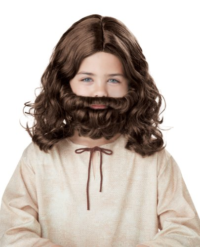 California Costumes Jesus Wig and Beard Child Costume, Acc -