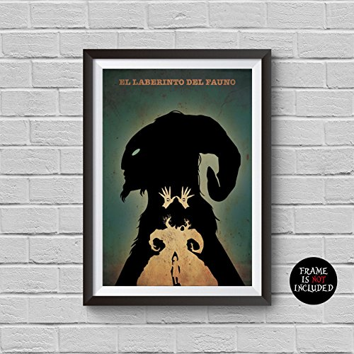 Pan's Labyrinth Minimalist Poster Guillermo del Toro Alternative Movie Print El laberinto del fauno Ofelia and the Faun Pale Man Illustration Home Decor Cinema Artwork Wall Art Hanging Cool Gift