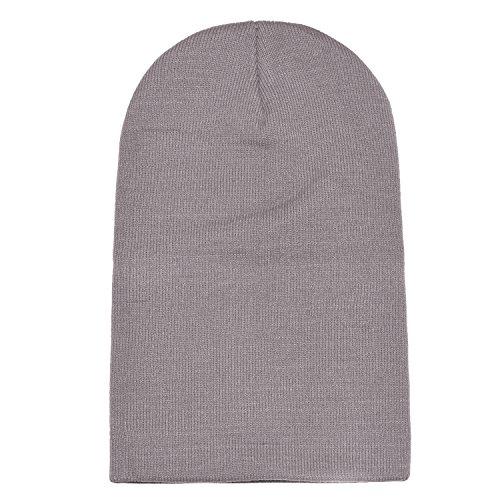 gorro Gris invierno moderno slouch gorro diseño clásico y suave de abrigo beanie Claro DonDon de dqOfd