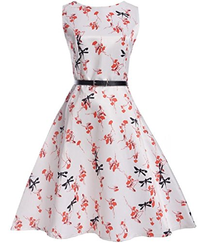 Sleeveless Evening Dress Coolred Splicing Swing Vintage Pattern11 Printed Women's qWfWAPvta
