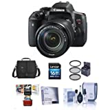 Canon EOS Rebel T6i DSLR Camera EF-S 18-135mm f/3.5-5.6 IS STM Lens - Bundle Camera Case, 16GB Class 10 SDHC Card, 67mm Filter Kit, Cleaaning Kit, Mac Software Package