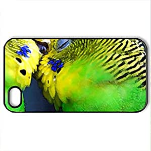 Amazon parrots - Case Cover for iPhone 4 and 4s (Birds Series, Watercolor style, Black)