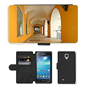 Hot Style Cell Phone Card Slot PU Leather Wallet Case // M00169889 Archway Cross Vault Vault // Samsung Galaxy S4 Mini i9190