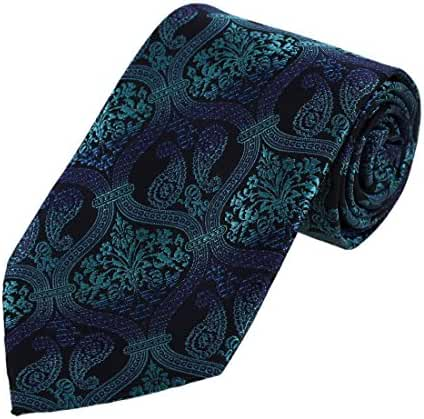 DAA7B13-15 Birthday Gift Paisley Tie For Men Microfiber Comfort Neckwear By Dan Smith