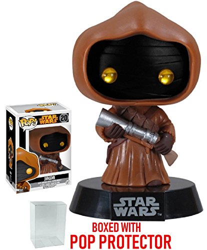 Funko Pop! Star Wars: Jawa #20 Vaulted Edition Vinyl Bobble-Head Figure (Bundled with Pop BOX PROTECTOR CASE)