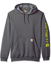 Carhartt Mens B&t Signature Sleeve Logo Midweight Hooded Sweatshirt K288
