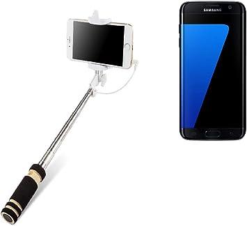 K-S-Trade Selfie Stick Palillo para Samsung Galaxy S7 Edge, Negro, Monopod, Mástil Telescópico, Autorretrato: Amazon.es: Electrónica