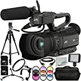 JVC GY-HM200HW House of Worship Streaming Camcorder 13PC Accessory Bundle – Includes 2x 64GB SD Memory Cards 3 Piece Filter Kit (UV + CPL + FLD) + 6PC Graduated Filter Kit + MORE