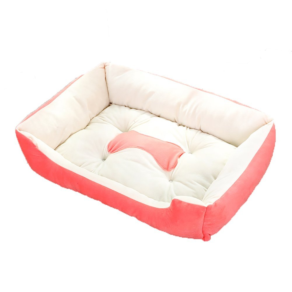 Pink Small Pink Small Kennel Small Medium Dog Dog Mat, Dog Bed Dog House Four Seasons Universal Soft and Comfortable