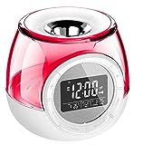 ELEGANT USB LED Diffuseur d'Huiles / Essentielles Ultrasonique / Humidificateur avec horloge lampe de parfum chauffage nuit décoratif arôme de lumière Lumières colorées