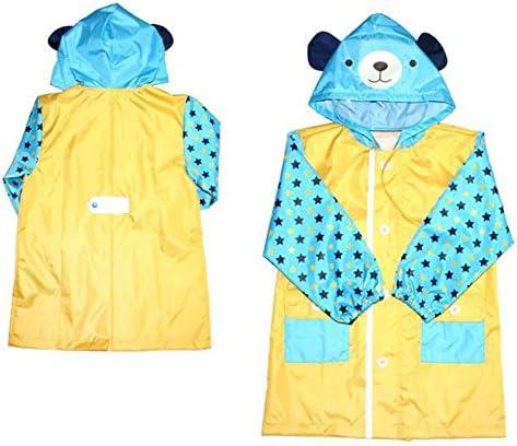 防水 キッズレインコート 子供のベビーフードポンチョブルー環境保護Hatは耐性レインコート動物の形のレインコートを着用してください 梅雨対策 アウトドア