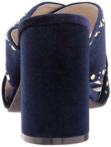 Cole Haan Donna Gabby Stallone Con Tacco Sandalo Blu Velluto