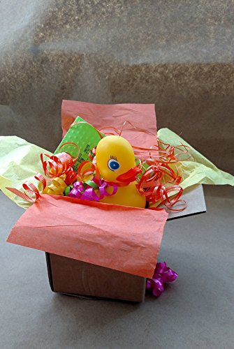 Housewarming Greeting Card Gift Box SPEC-QUACK-ULAR Yellow Rubber Duck Present Package Ships Direct to Family Friends ()