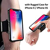 SPORTLINK Running Armband Case Kit for iPhone X/Xs, One Key Release Quick Mount Detachable for Hiking Jogging Biking Workouts