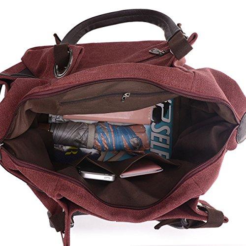 Frauen Jahrgang Leinwand Messenger Aktentasche Schulter Handtasche Schule Freizeit Tasche ,A-35cm*25cm*25cm