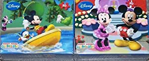 Disney Mickey Mouse Clubhouse 50 Piece Mini Puzzles - Set of 2 Fishing and Posing