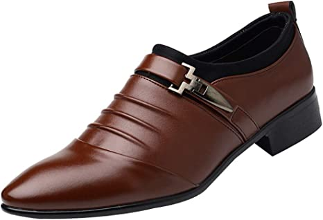 Man Pointed Toe Formal Wedding Shoes New British SFE Mens Leather Shoes Fashion Dress Shoes