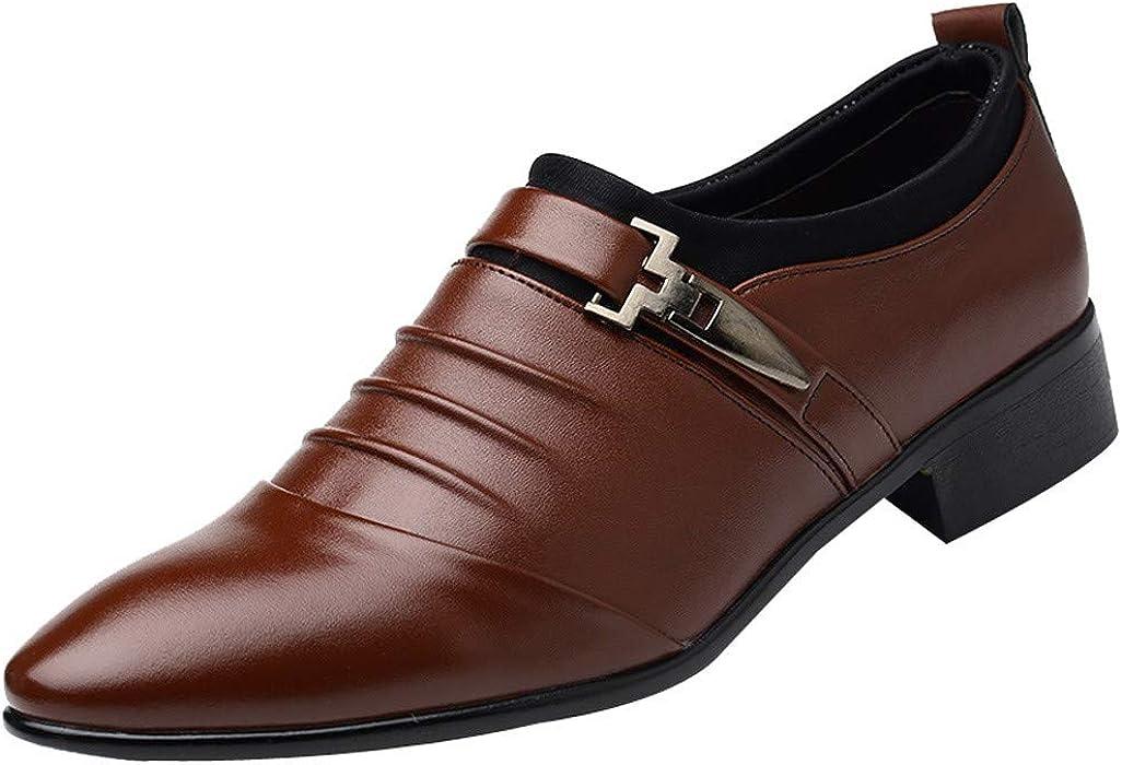 Herren Anzugschuhe Leder Flat Vintage Brogue Oxfords Schuhe Comfy Office Schuhe  Business Casual Lackleder Hochzeit Schnürhalbschuhe Business-Halbschuh ... b7a88bb717