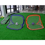 Foldable Pop up Soccer Goals, Portable Soccer Nets with Carry Bag for Kids, Backyard, Park or Training,Blue