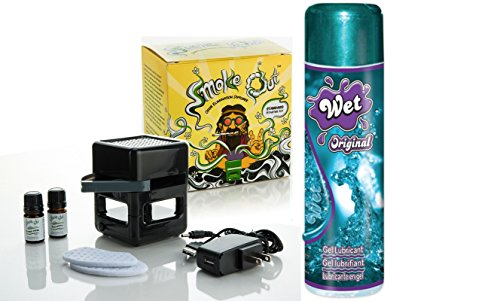 Bundle Package Of Smoke Out Odor Eliminating Diffuser DP And Wet Original Gel (3.5oz) by SI Novelties