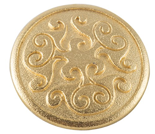 Renaissance Swirl Metal Button in Polished Gold Finish 7/8