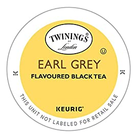 Twinings of London Earl Grey Tea K-Cups for Keurig, 24 Count 26 FRESH FLAVOR: One box of 24 Earl Grey Black Tea bags. Fresh, fragrant and flavored with the distinctive notes of citrus and bergamot. Steep for three minutes for the perfect cup of earl grey black tea. ONLY THE FINEST QUALITY: Our expert blenders source only the finest leaves cultivated to our exacting standards by trusted growers around the world. From these tea gardens we hand-select the leaves that will shape your next Twining's moment. EARL GREY TEA: Fresh, fragrant and flavored with distinctive notes of citrus and bergamot, this Earl Grey tea has all the taste of the original.