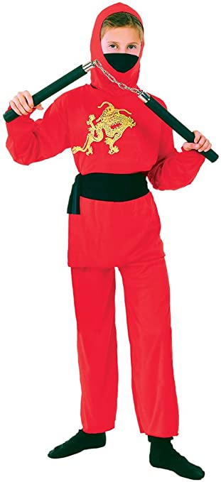 Bristol Novelty Ninja Childs Costume (L) Childs Age 7 - 9 Years