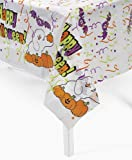"set of 3 plastic Halloween tablecloth / table covers 54""x72"""