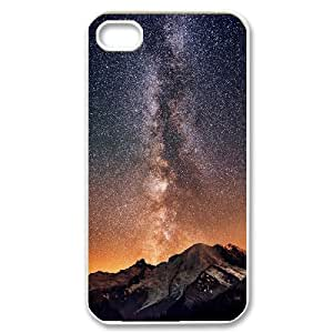 Dustin Starry Sky IPhone 4/4s Case Mount Rainier Under the Milky Way Cheap for Girls, Case for Iphone 4, {White}