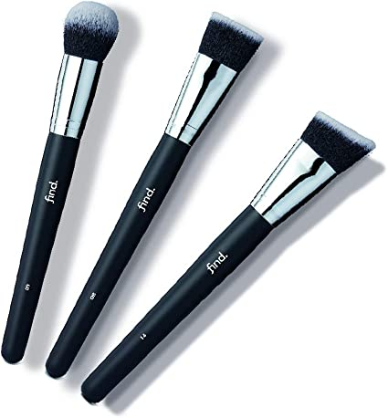 FIND - Kit de brochas de contorno: brocha para base de maquillaje, brocha para polvo bronceador y brocha de contorno (3 brochas) - n.º 08, n.º 09, n.º 14: Amazon.es ...