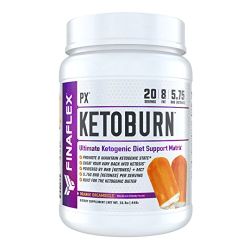 KETOBURN, 20 Servings, Orange Dreamsicle, Induce & Maintain Ketosis, Built for Keto Diet, BHB (Ketones) + MCT, Engage Ketosis in 3 days, Use Stored FAT as energy, Ketogenic Diet Support by FINAFLEX