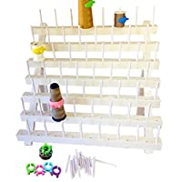 PeavyTailor Thread Stand/Rack and Organizer for Sewing Quilting Embroidery -White With 4 Pcs Thread Bobbin Cilp