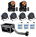 Chauvet DJ CUMULUS Fog Machine Fogger+Case+2) Moving Heads+4) Pars+3) Gal. Fluid