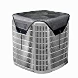 Foozet Air Conditioner Leaf Guard Central Air Conditioner Cover Summer Top for Outside Units Black (Mesh, 28'×28')